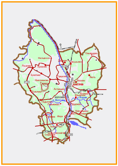 Схема Дмитровского района